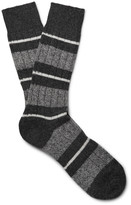 Pantherella Apsley Striped Cashmere-Blend Socks