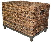 Threshold Wicker Large Storage Trunk - Dark Global Brown