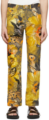 Dries Van Noten Multicolor Sequin Floral Trousers