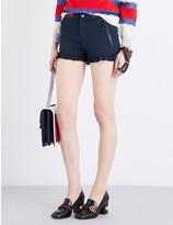 Gucci Ruffle-trim twill shorts