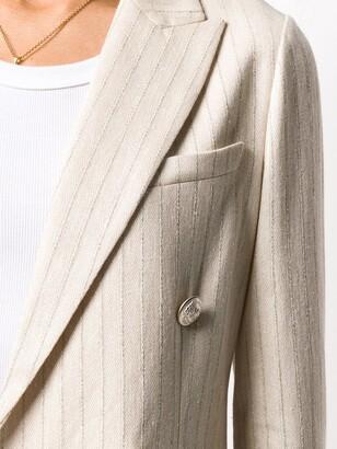 Circolo 1901 Striped Double-Breasted Blazer