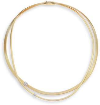 Marco Bicego Masai Diamond, 18K Yellow Gold & 18K White Gold Double-Strand Necklace