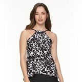 Croft & Barrow Women's Tummy Slimmer High-Neck Tankini Top