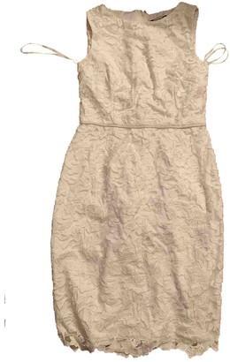 Karl Lagerfeld Paris White Lace Dress for Women
