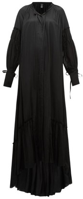 Ann Demeulemeester Nanette Balloon-sleeve Satin Dress - Womens - Black