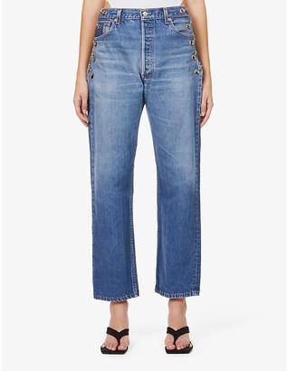 Eb Denim Vintage Chain straight-leg high-rise jeans
