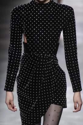 Chikas Velvet Polkadot Dress