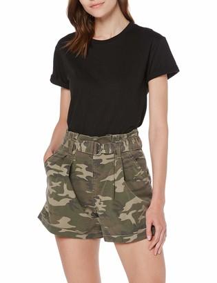 Miss Selfridge Women's Khaki Camouflage Belted Shorts