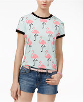 Mighty Fine Juniors' Flamingo Graphic T-Shirt