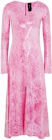 Paula Knorr Pink Printed Sequinned Jersey Midi Dress
