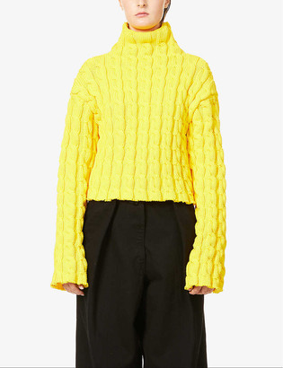 Balenciaga Cable knit turtleneck knitted jumper