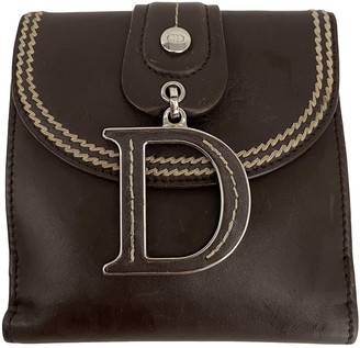 Christian Dior Saddle Brown Leather Purses, wallets & cases