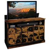 TVLIFTCABINET, Inc Nantucket Solid Wood TV Stand for TVs up to 65 inches TVLIFTCABINET, Inc Color: Weathered Black