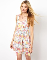 Pepe Jeans Dress With Tie Back - Multi