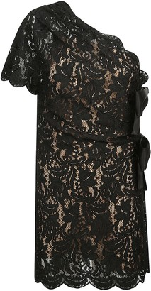 Saint Laurent One-shoulder Laced Dress