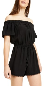 BeBop Juniors' Off-The-Shoulder Romper