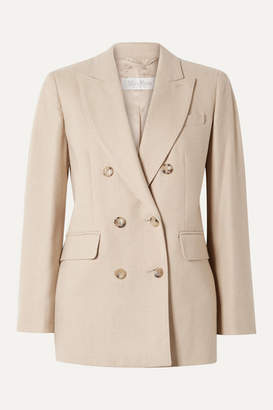 Max Mara Double-breasted Camel Hair And Cashmere-blend Blazer - Beige