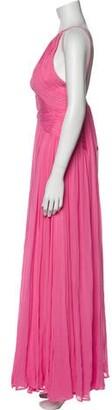 Maria Lucia Hohan Halterneck Long Dress Pink