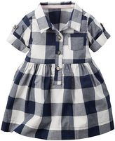 Carter's Check Dress (Baby) - Navy/White-18 Months