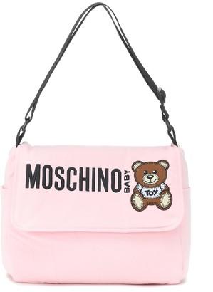 MOSCHINO BAMBINO Baby logo cotton changing bag