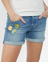 Fat Face Badged Denim Shorts