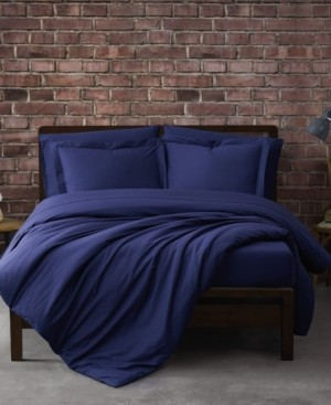 Sean John Solid Percale 2 Piece Duvet Set, Twin Bedding