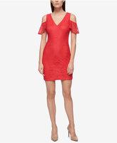 GUESS Lace Cold-Shoulder Sheath Dress