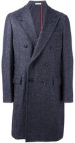 Boglioli double breasted coat - men - Acrylic/Polyamide/Polyester/Virgin Wool - 52