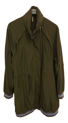 Free People Green Polyester Trench coats