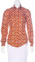 Moschino Cheap & Chic Moschino Cheap and Chic Floral Silk Top