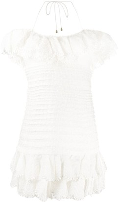 Zimmermann Off The Shoulder Pleated Dress