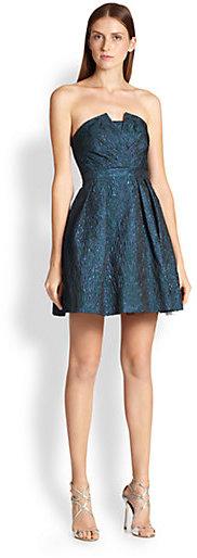 Aidan Mattox Strapless Party Dress