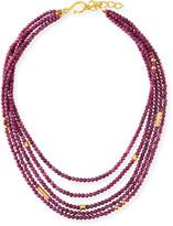 Dina Mackney 5-Strand Ruby Necklace