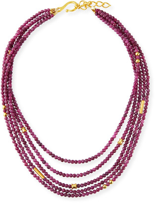 Dina Mackney 5-Strand Ruby Necklace