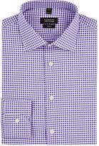Barneys New York Men's Gingham Cotton Poplin Dress Shirt-PURPLE