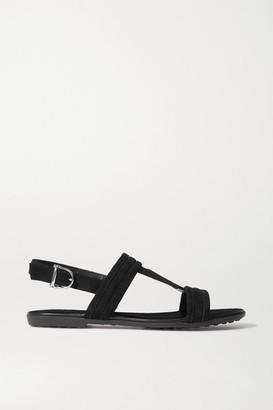 Tod's Suede Slingback Sandals - Black