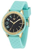 Roxy Women's RX/1013DBGP THE DEL MAR Gold-Tone and Light Blue Silicone Strap Watch