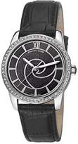 Pierre Cardin Limoges Petit Women's Quartz Watch with Grey Dial Analogue Display and Black Leather Strap PC106152S01