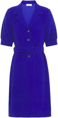 Claudie Pierlot Belted Textured-crepe Mini Dress
