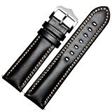 For Samsung Gear S3 Frontier,Binmer(TM) Replacement Leather Watch Bracelet Strap Band (Black)