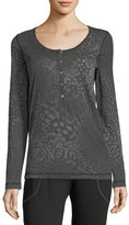 Allen Allen Burnout Long-Sleeve Henley Shirt