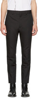 Haider Ackermann Black Linen Slim Trousers