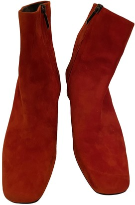 Neous Red Suede Boots