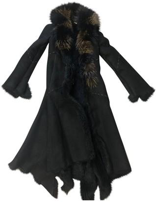 Roberto Cavalli Black Raccoon Coat for Women