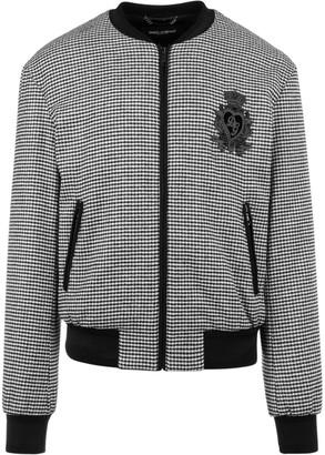 Dolce & Gabbana Houndstooth Bomber Jacket
