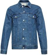 French Connection Men's Bleached Denim Jacket