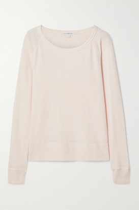 James Perse Cotton-terry Top - Pastel pink