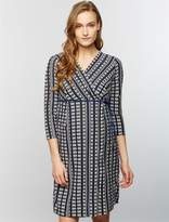 A Pea in the Pod Textured Maternity Wrap Dress