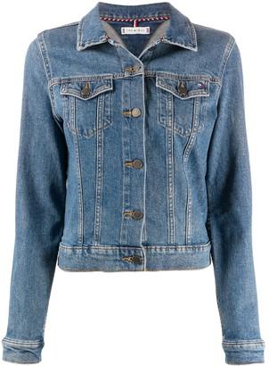 Tommy Hilfiger Embroidered Logo Denim Jacket