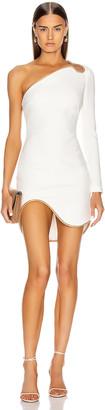 Stella McCartney Dianna One Shoulder Mini Dress in White | FWRD